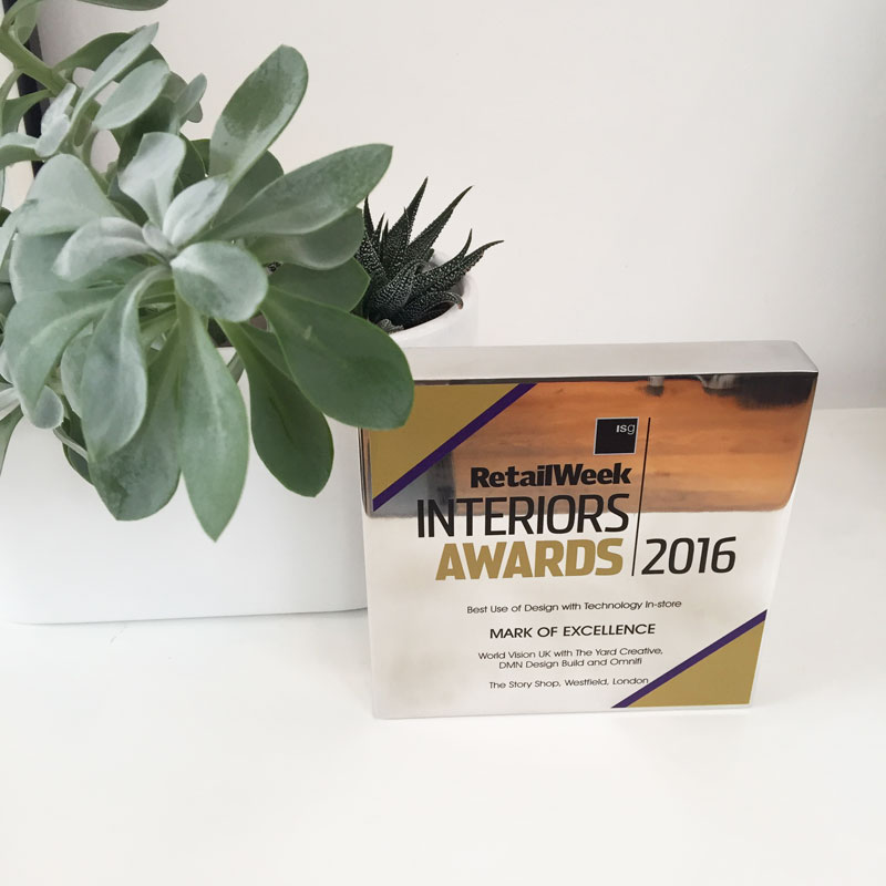 WINNER:Retail Week Interiors Awards 2016