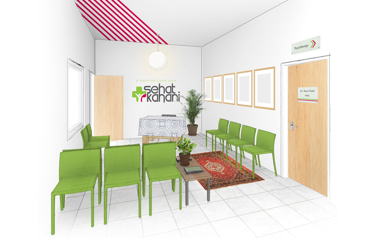 Interior design of clinic, SPRING, Sehat Kahani