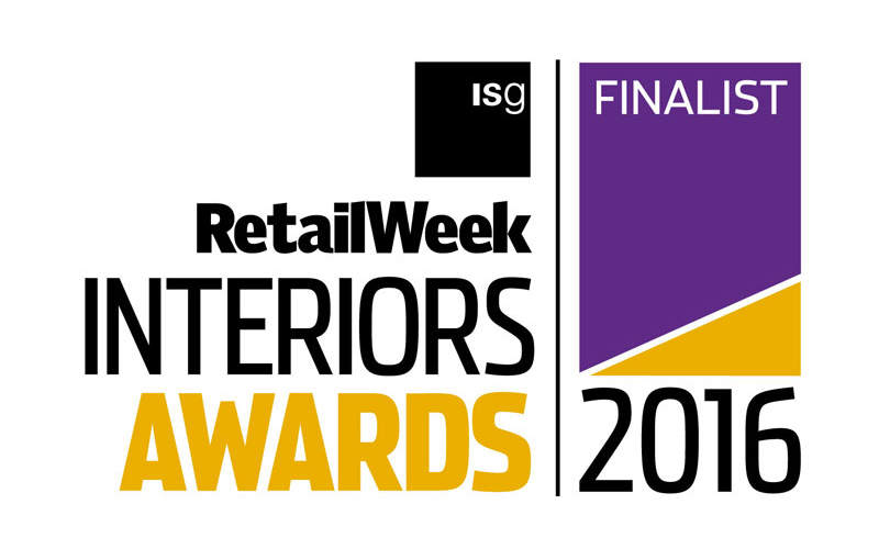Nominated for Retail Week Interiors Awards 2016