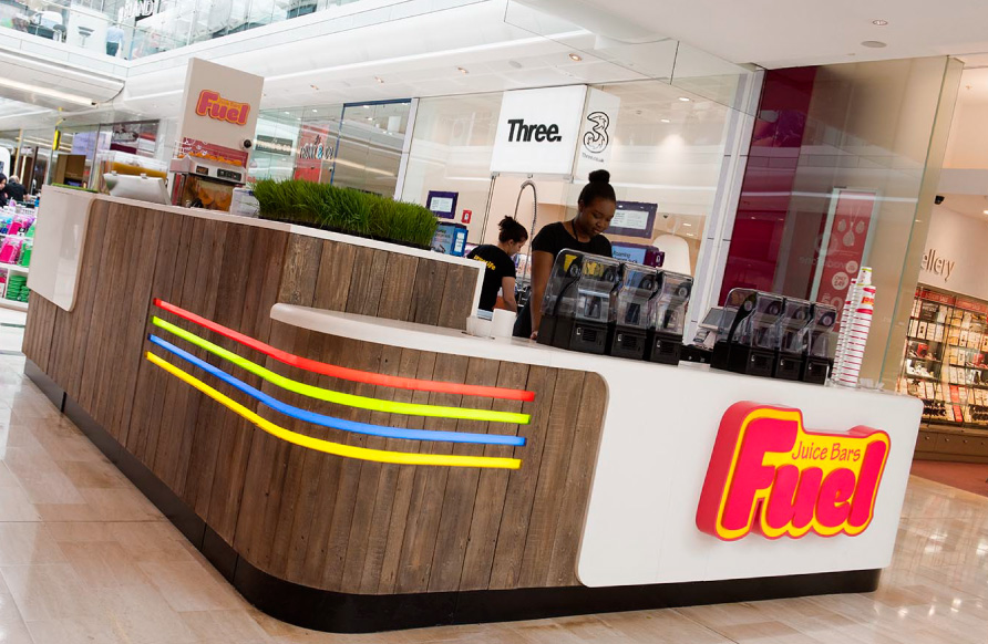 Fruitastic flagship kiosk opens at Westfield London
